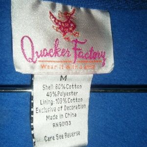 Quaker Factory Tops - THE QUACKER FACTORY Womens M Medium Hoodie Jacket